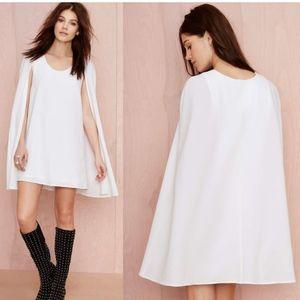 NWOT NASTY GAL Catherine White Cape Dress